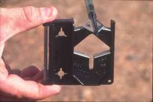 EZE-LAP Broadhead Sharpener in Use