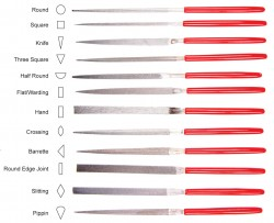 Eze-Lap Needle File Profiles